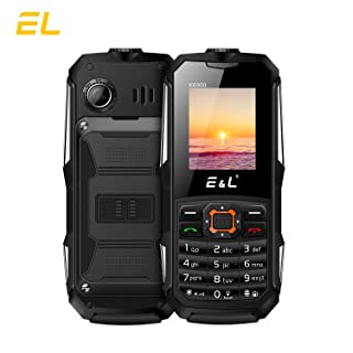 E&L K6900 Rugged Cellphone Unlocked with IP68 Waterproof (Black)