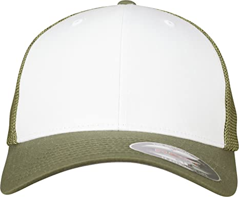 ad492e24795 Flexfit Mesh Colored Front Buck White Buck L XL at Amazon Men s Clothing  store