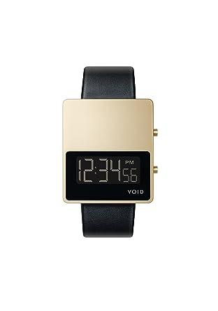 Void V01MKII Cuarzo Digital Acero Inox Oro Date Negro Zafiro Cuero Reloj Unisex: David Ericsson: Amazon.es: Relojes