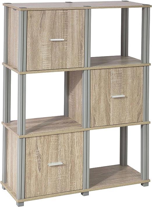 SoBuy® Estantería en Escalera,Librería con 6 Cubos de almacenaje,L80 x P30 x H 110cm,FRG223-N,ES: Amazon.es: Hogar