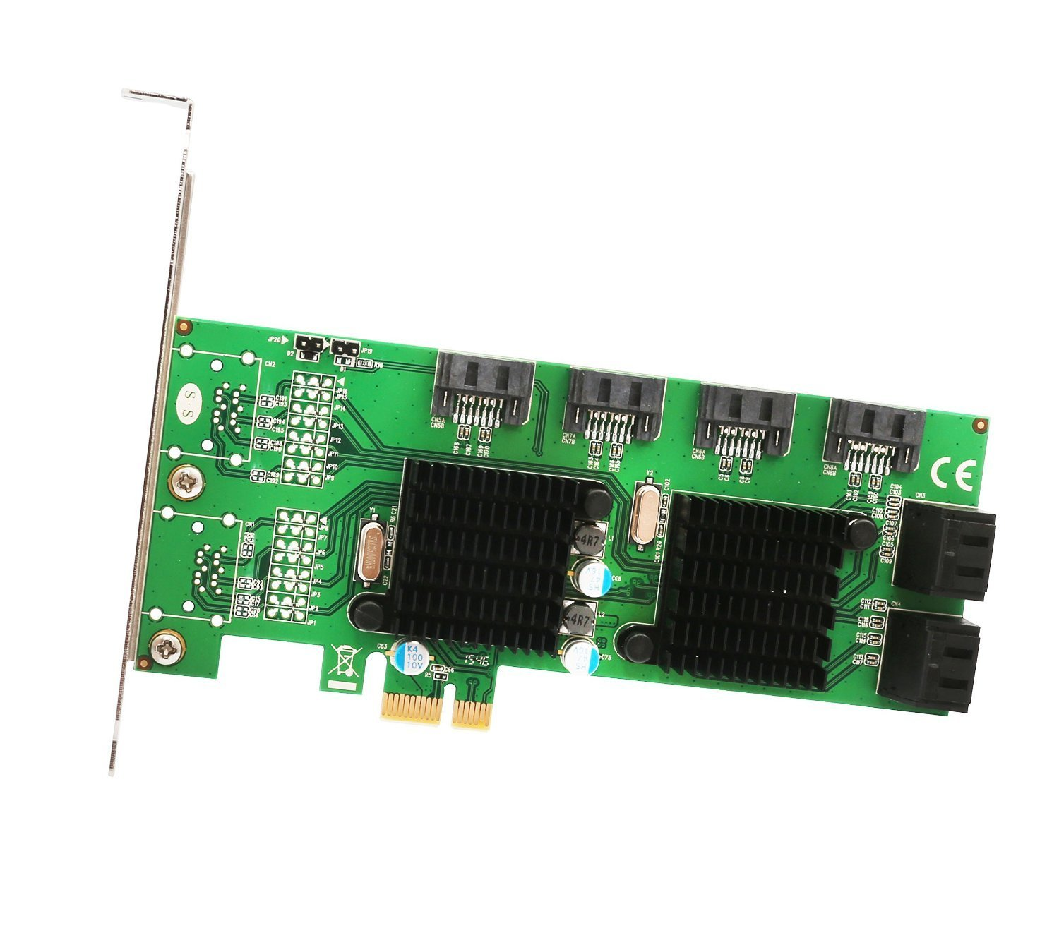 Syba SD-PEX40104 PCI-Express 8-Port Internal SATA 6Gbps Dual Chipset PCI-E V2.0 x 1 Slot Controller Card