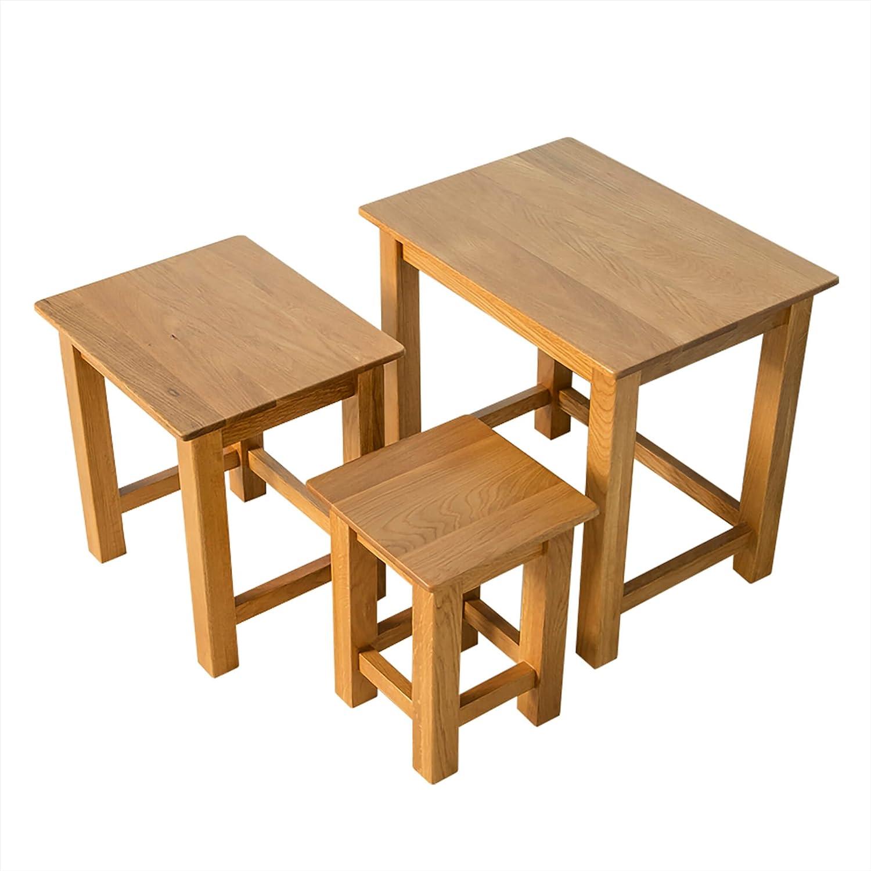 Roseland Furniture Ltd Nordic Oak Nest of Tables - Nesting Tables
