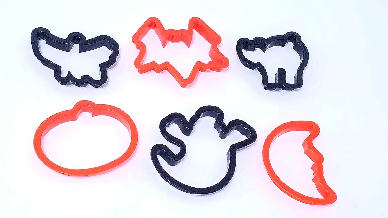 Halloween Cookie Cutters 1 Set of 6 Plastic
