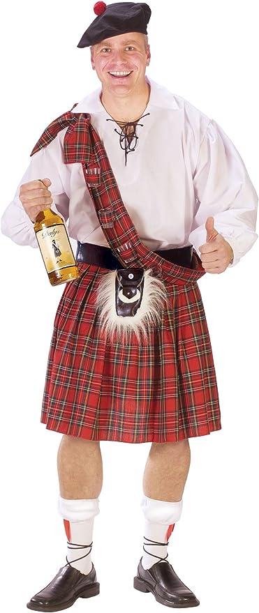 MyPartyShirt Falda Escocesa Tela Escocesa del Rojo del tartán de ...