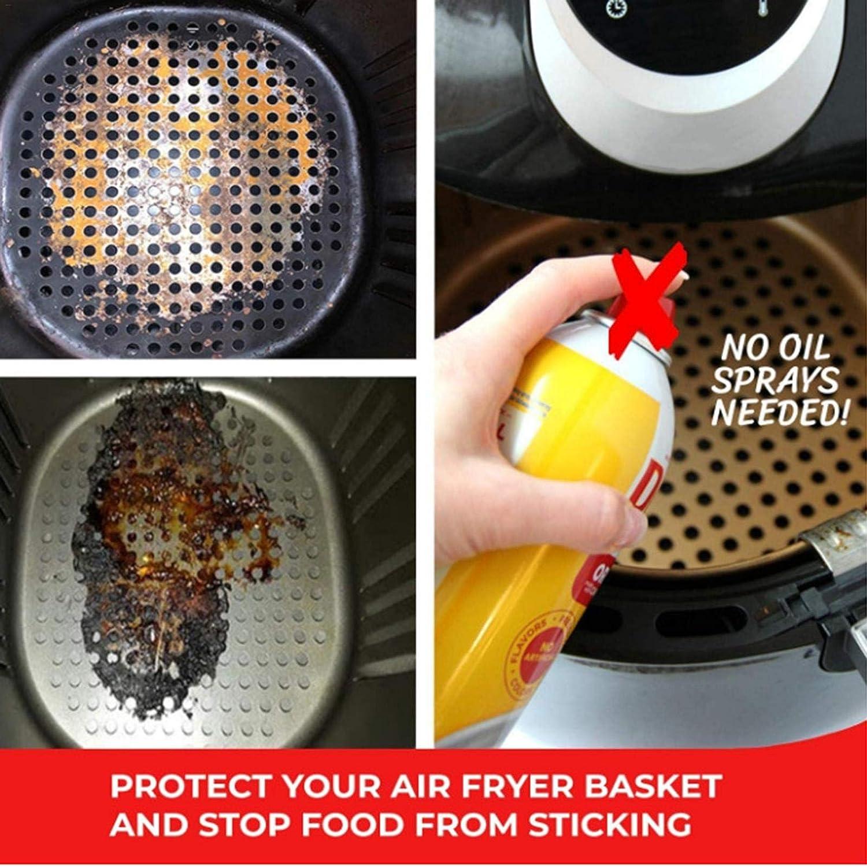 huiyingshe Reutilizable Fryer Fryer Liner, Forro de Silicona Libre de 7,5 Pulgadas, Free Free Free Free Free Free Free Mat para la Cocina, fácil de Limpiar