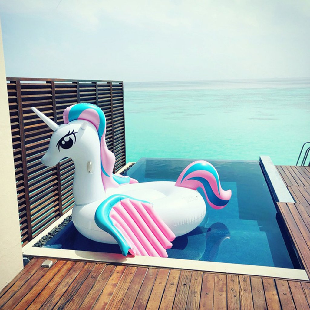 venta mundialmente famosa en línea Pool Pool Pool Inflatable, Giant Unicorn Pool Float, TG Unicorn Balsa Inflable Summer Swimming Pool Tumbonas Beach Flotadores Y Tumbonas para Adultos Y Niños, 104  86  62In  venta directa de fábrica