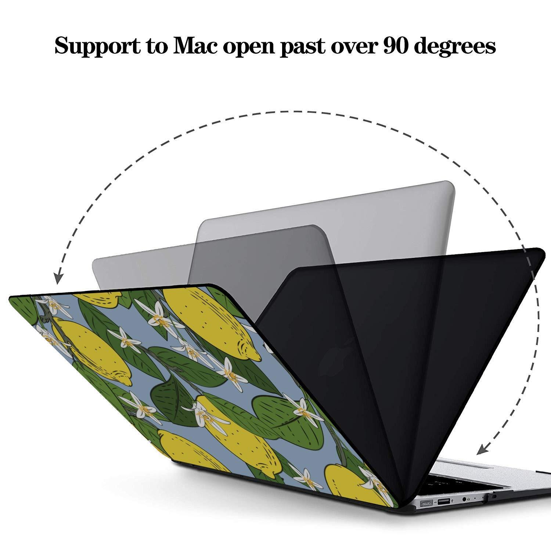 Laptop Cases Summer Fashion Flower Fruit Lemon Plastic Hard Shell Compatible Mac Air 11 Pro 13 15 13 MacBook Air Case Protection for MacBook 2016-2019 Version