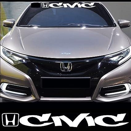 Kaizen white windshield sticker banner decal vinyl rally window art graphic decal stripe sticker for honda