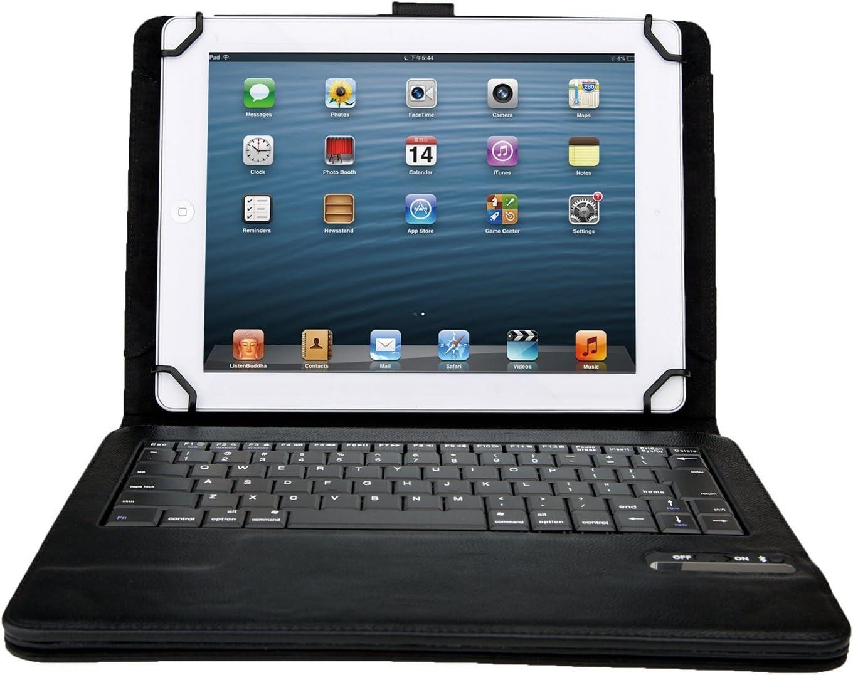 BQ Aquaris M10 Funda con Teclado Bluetooth Inalámbrico Funda de Cuero con Teclado para Tablet PC de 9 pulgada o 10 pulgada que incluye BQ Aquaris M10 ...