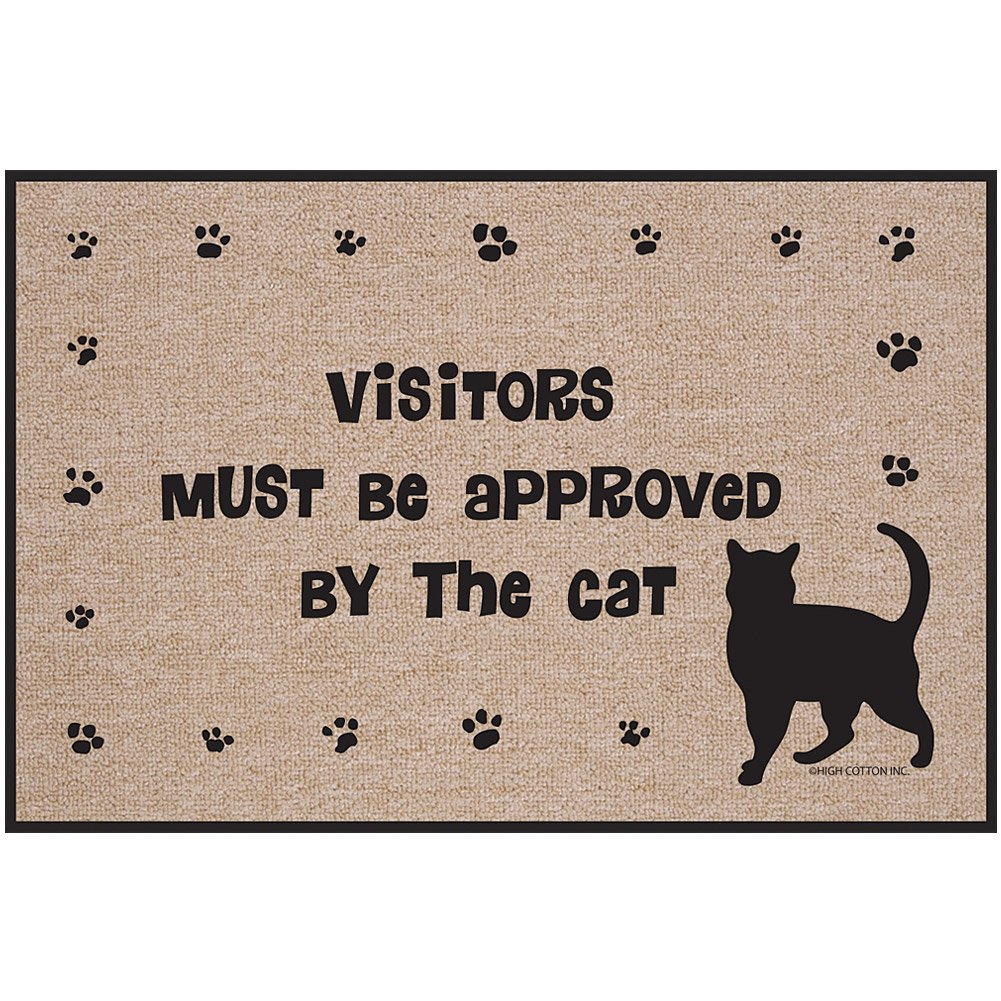 Amazon.com  Visitors Must Be Approved By The Cat Doormat - Kitty Paws Welcome Rug  Garden \u0026 Outdoor  sc 1 st  Amazon.com & Amazon.com : Visitors Must Be Approved By The Cat Doormat - Kitty ...