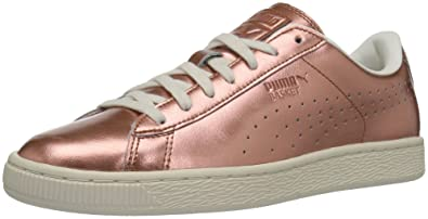 super popular a00d5 9d422 PUMA Women's Basket Classic Citi Metallic Wn's Fashion Sneaker