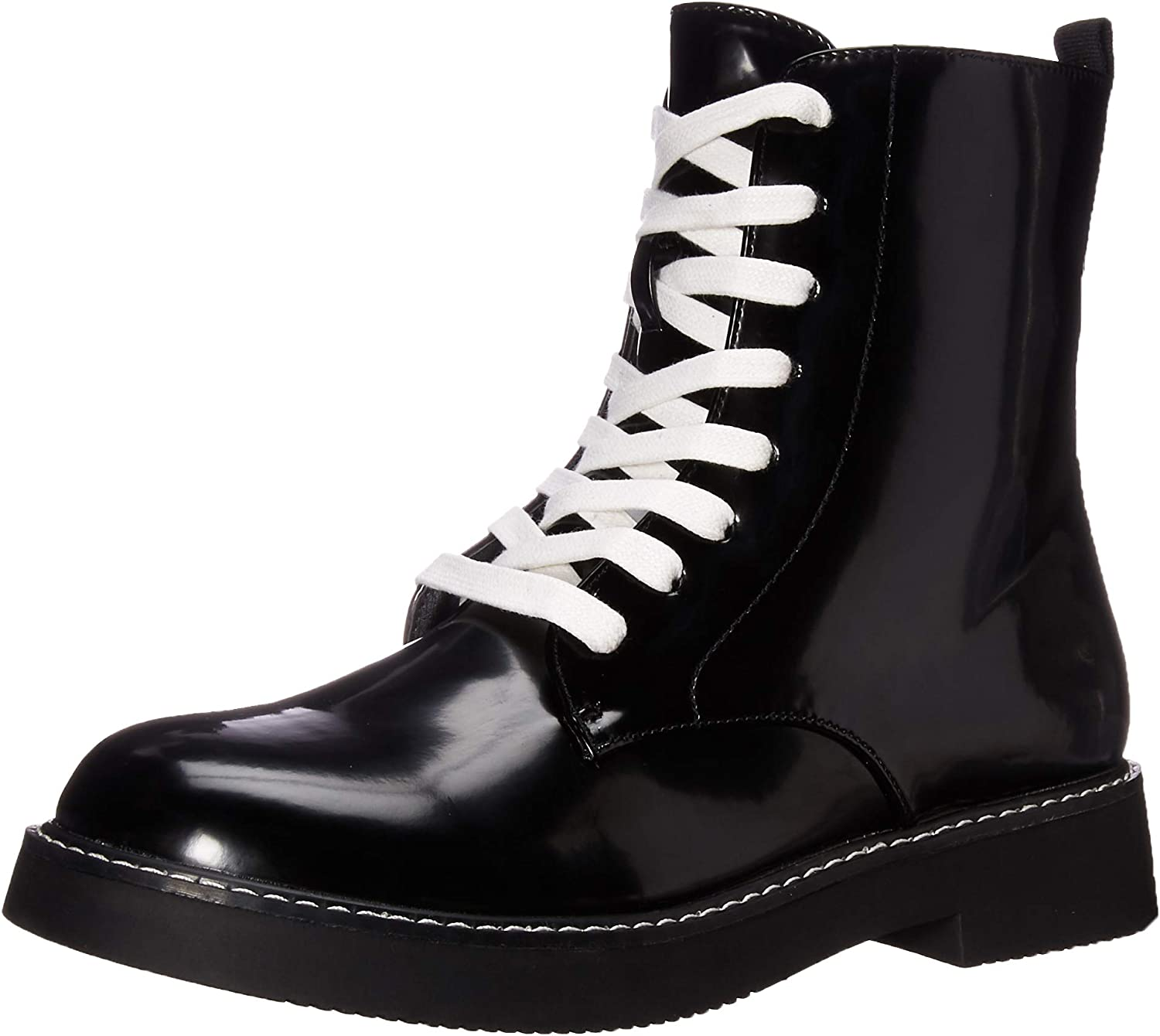 Jelina Boxed in Pu Combat Boot