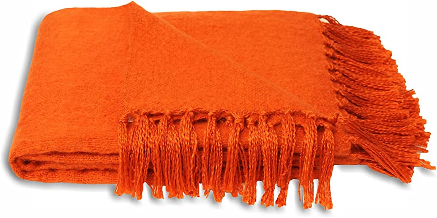 151 Products LTD Chiltern Tiss/Ã/© Orange Couverture//couvre-lit /Ã/ franges