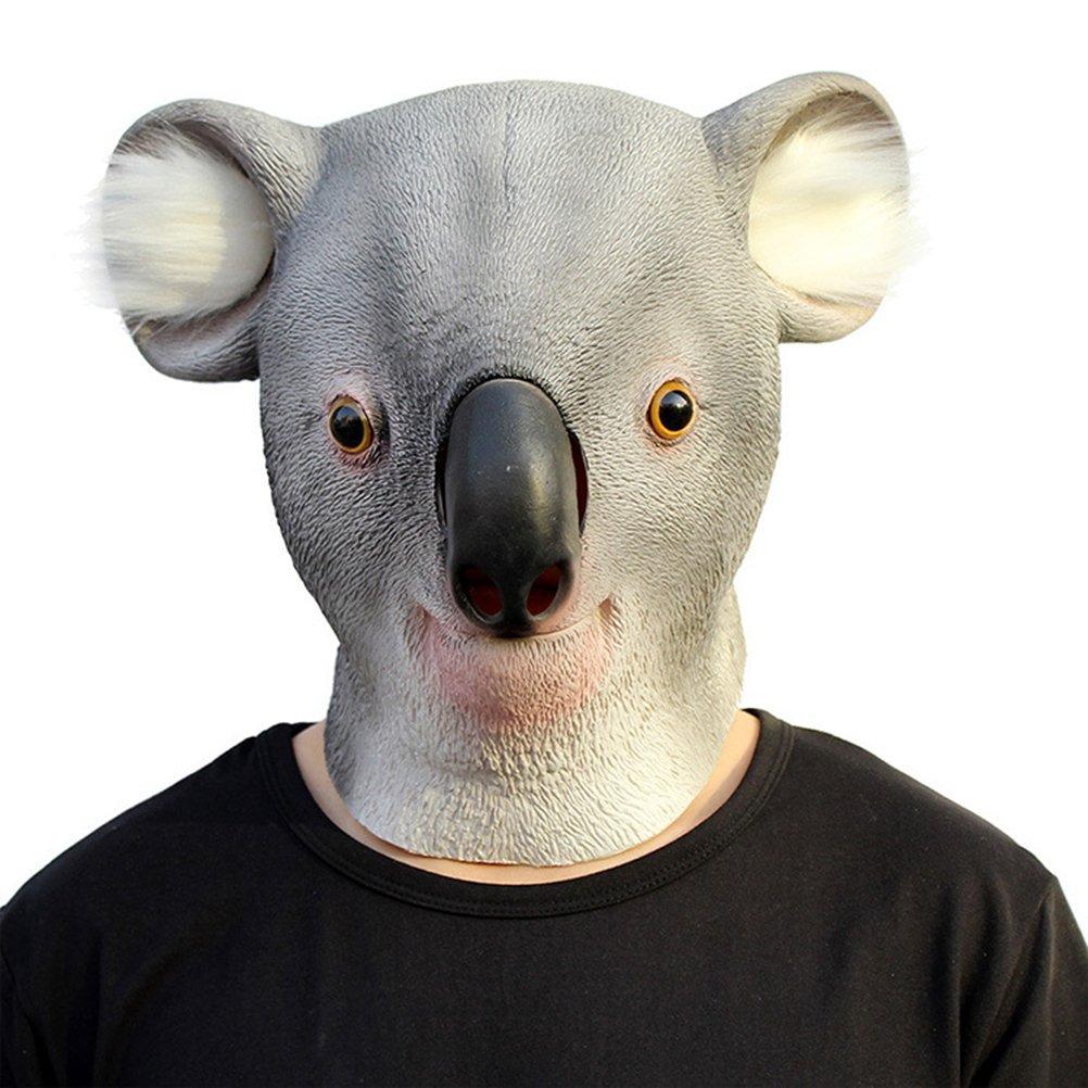 Tinksky Creepy Koala Cabeza de Látex Máscara Teatro Prank Prop ...