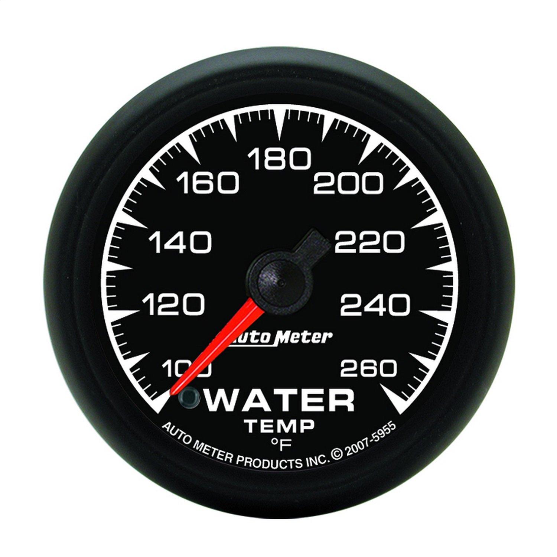 Auto Meter 5955 ES 2-1/16' -100 260 F Full Sweep Electric Water Temperature Gauge
