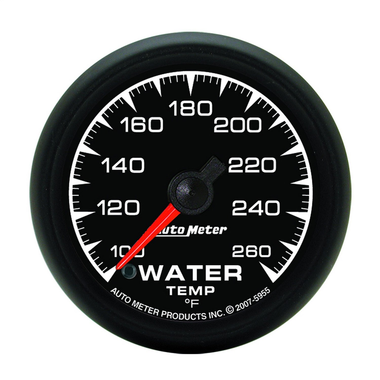 Auto Meter 5955 ES 2-1/16'' -100 260 F Full Sweep Electric Water Temperature Gauge