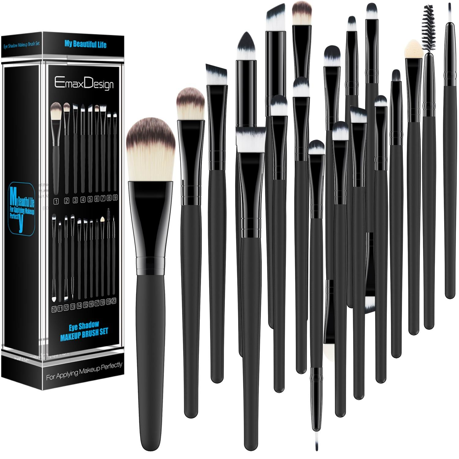 20 Pieces Makeup Brush Set on.
