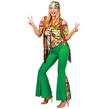 Groovy Hippie - Adult Costume Lady XS (UK 6-8)  sc 1 st  Amazon UK : hippie halloween costume  - Germanpascual.Com