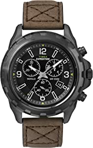 Timex Watch for Men with Leather Strap, Analog, T49986