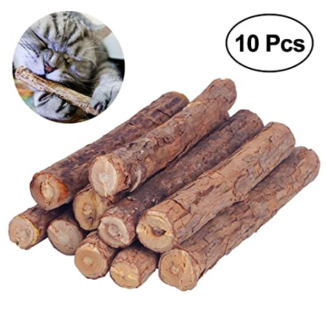 Umiwe Catnip Matatabi,10 Palitos De Hierba Gatera De Matatabi para Gatos Natural Cuidado Dental