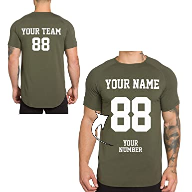 b9f0a38c774 Amazon.com  O2TEE Custom Athletic Tees - Make Your OWN Jersey Training T  Shirts- Personalized Team Uniforms Gym Tops  Clothing