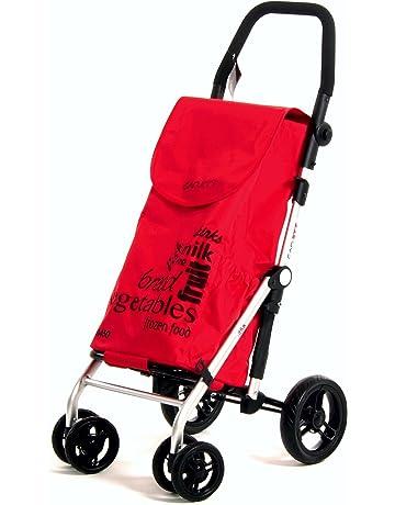Carlett Lett 450 Carro de Compras, Aluminio, Rojo, 69x42x29 cm
