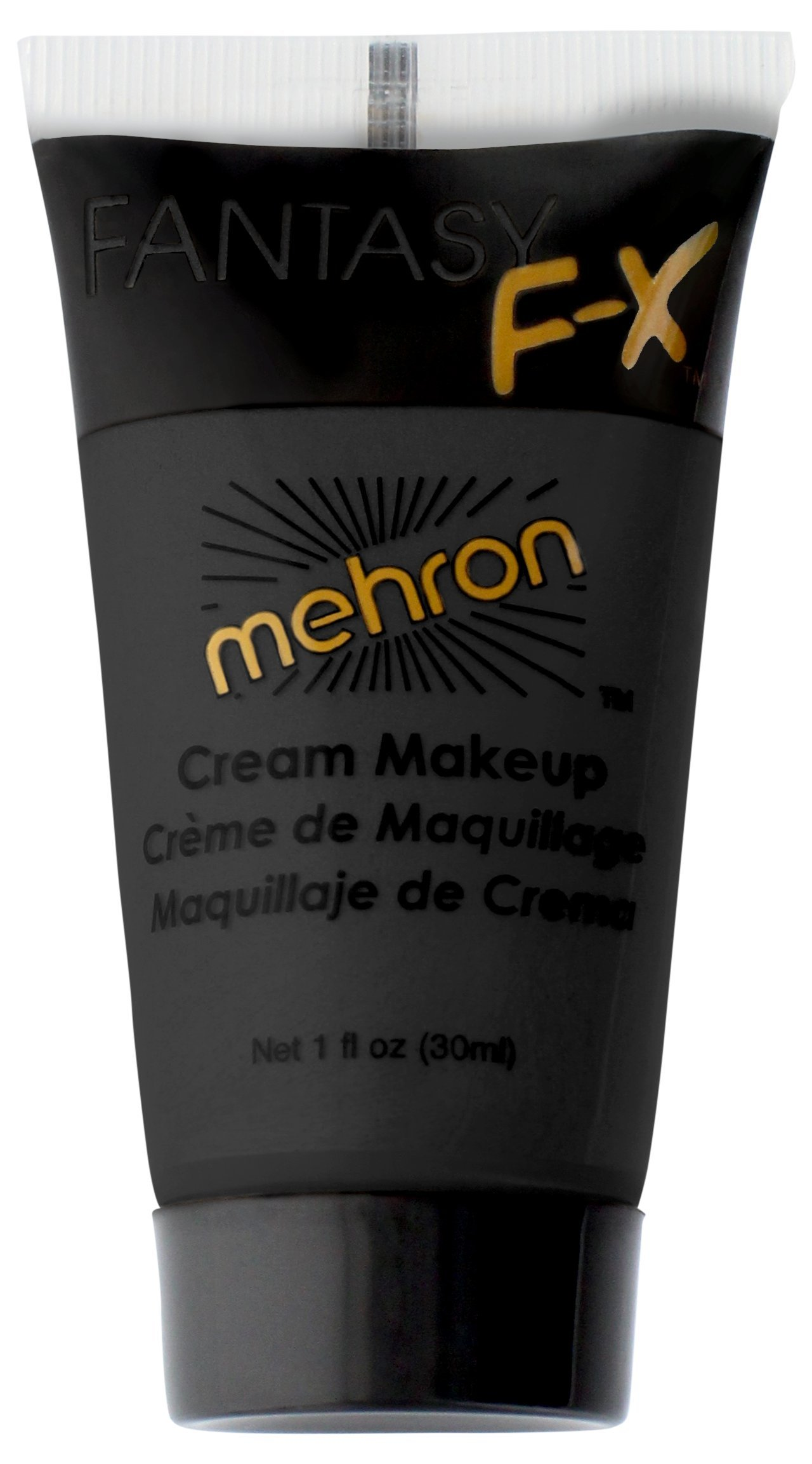 Mehron Makeup Fantasy F/X Water Based Face & Body Paint, BLACK – 1oz Carded