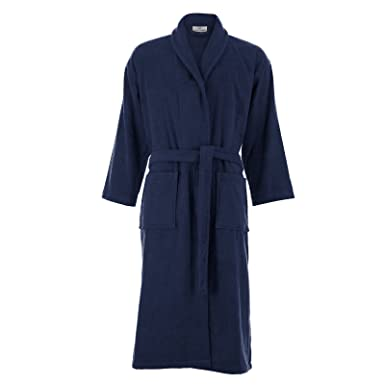 Cottonna 100% Turkish Cotton Bathrobe - Terry Cloth Robe - Unisex - Long  Length - Shawl Collar Style (Small 58a25ead2