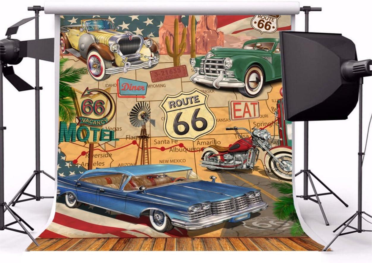 florastudio.hu OFILA Historic Route 66 Backdrop 5x5ft U.S.Mother ...