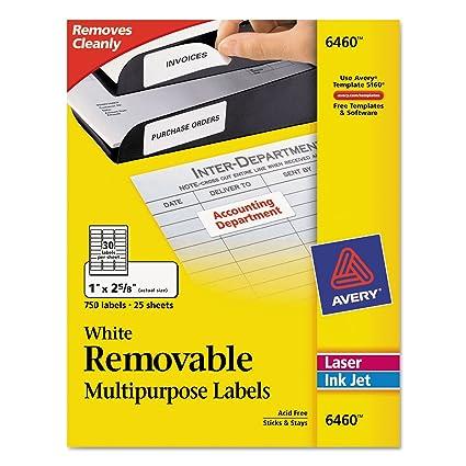 Amazon Ave6460 Avery Removable Inkjetlaser Id Labels