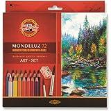 Koh-i-noor Mondeluz Koh-I-Noor Mondeluz 3714 - Lápices de colores acuarelables (72 unidades) + Cepillos + Sacapuntas