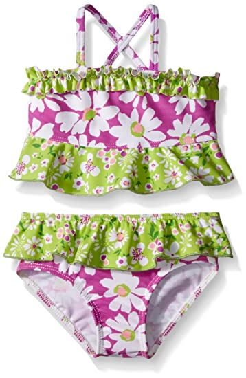 f214e43b83 Amazon.com  Flap Happy Girls UPF 50+ Hana Crossback 2-Piece Swimsuit-Baby   Clothing