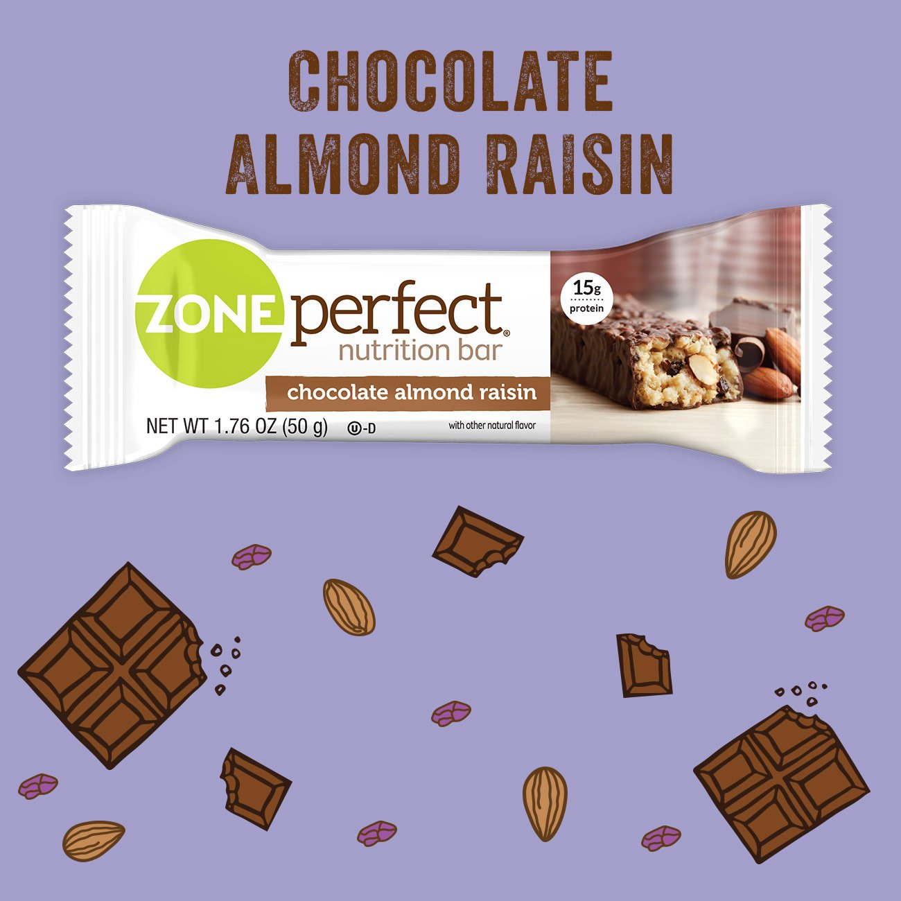 Zone Perfect Nutrition Bar, Chocolate Almond Raisin, 12 Count (Pack of 3) by Zoneperfect Classic (Image #6)