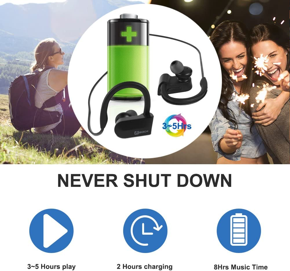 Android Bluetooth-Ger/ät Schwei/ßsicher Stereo CVC 6.0 Ger/äuschunterdr/ückung Bluetooth Ohrh/örer Joggen f/ür IOS Bluetooth Kopfh/örer Headset Bukm Wireless Bluetooth 4.1 in Ear Kopfh/örer Sport