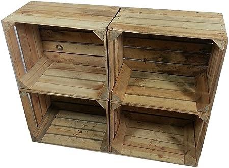4 x estable viejo cajón de la fruta - reformado - para muebles Shabby,Las imágenes son sólo para ilu