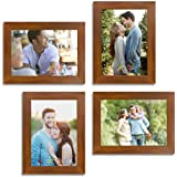 Art Street Wall Collage Photo Frame Timeline (Brown, Set of 4)||5X7 Inches||