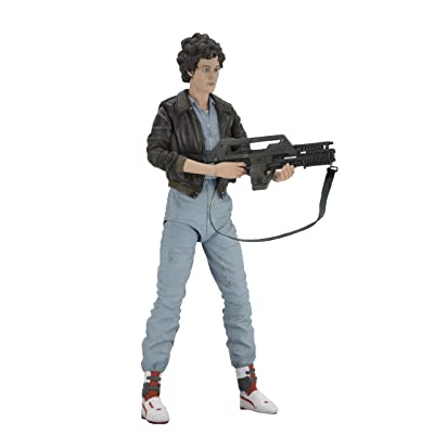 "NECA - Aliens 7"" scale action figure - Series 12 Lt. Ellen Ripley (Bomber Jacket): Toys & Games"