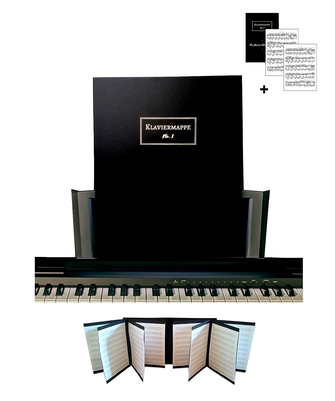 Premium Notenmappe fürs Klavier und Breite Notenständer  4 Notenblätter im Überblick und 16 Seiten im Notenorder   GRATIS Stück als E-Book