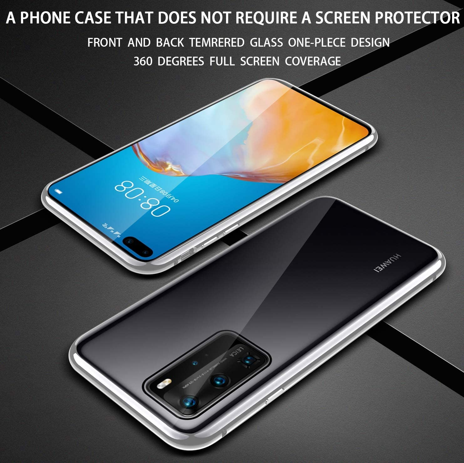 Gris Fanxwu Cover Compatible con Funda Huawei P40 Pro Ligero Tejido Case con 360 Grados Rotaria Kickstand Protecci/ón Resistente Anti-Huella Dactilar Carcasa