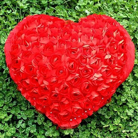 FAVOLOOK almohada en forma de corazón, exquisito cojín de ...