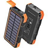 Solar Charger 24000mAh, Tranmix USB C Power Bank Portable Wireless Charger, PD 18W QC 3.0 Fast Charging External Battery Pack