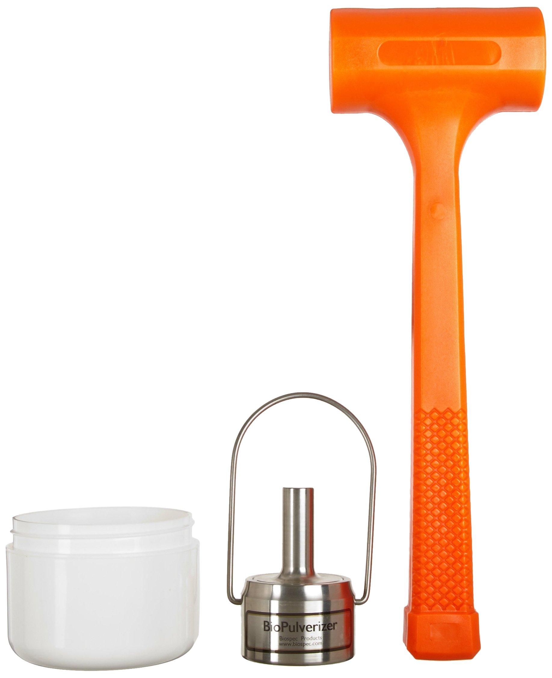 BioSpec 59014N 316 Stainless Steel BioPulverizer with Hammer, 1-10g Capacity