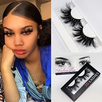 398242c8479 Amazon.com : Veleasha High Volume Mink Lashes Cruelty-free 25mm Long 3D  Eyelashes Dramatic Look for Makeup (45A)/False Eyelashes : Beauty