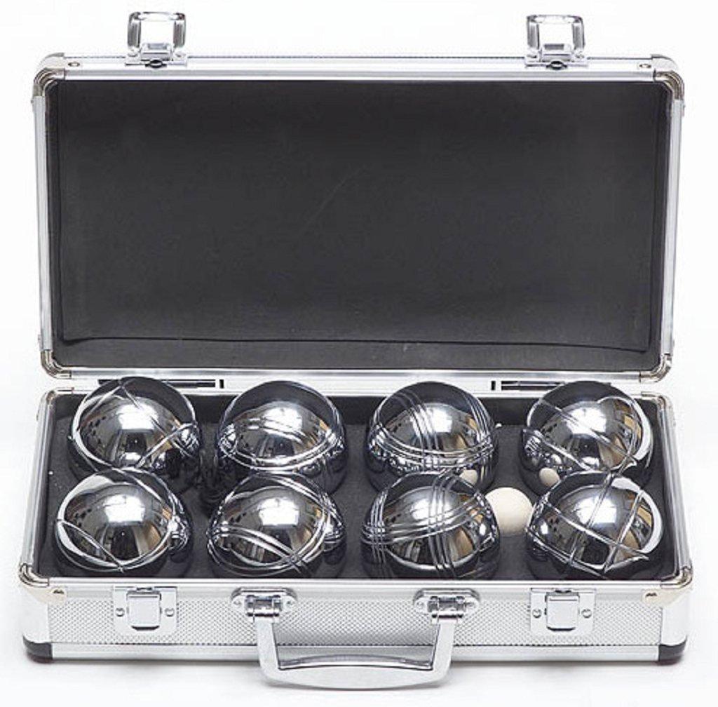 Garden Games Premium 8 Metal Boules Set - in Metal Carry Case
