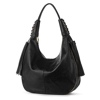 37e2d653396f Hobo Shoulder Bag for Women Vegan Leather Top Handle Handbag Tote Purse  Work Travel Large Capacity