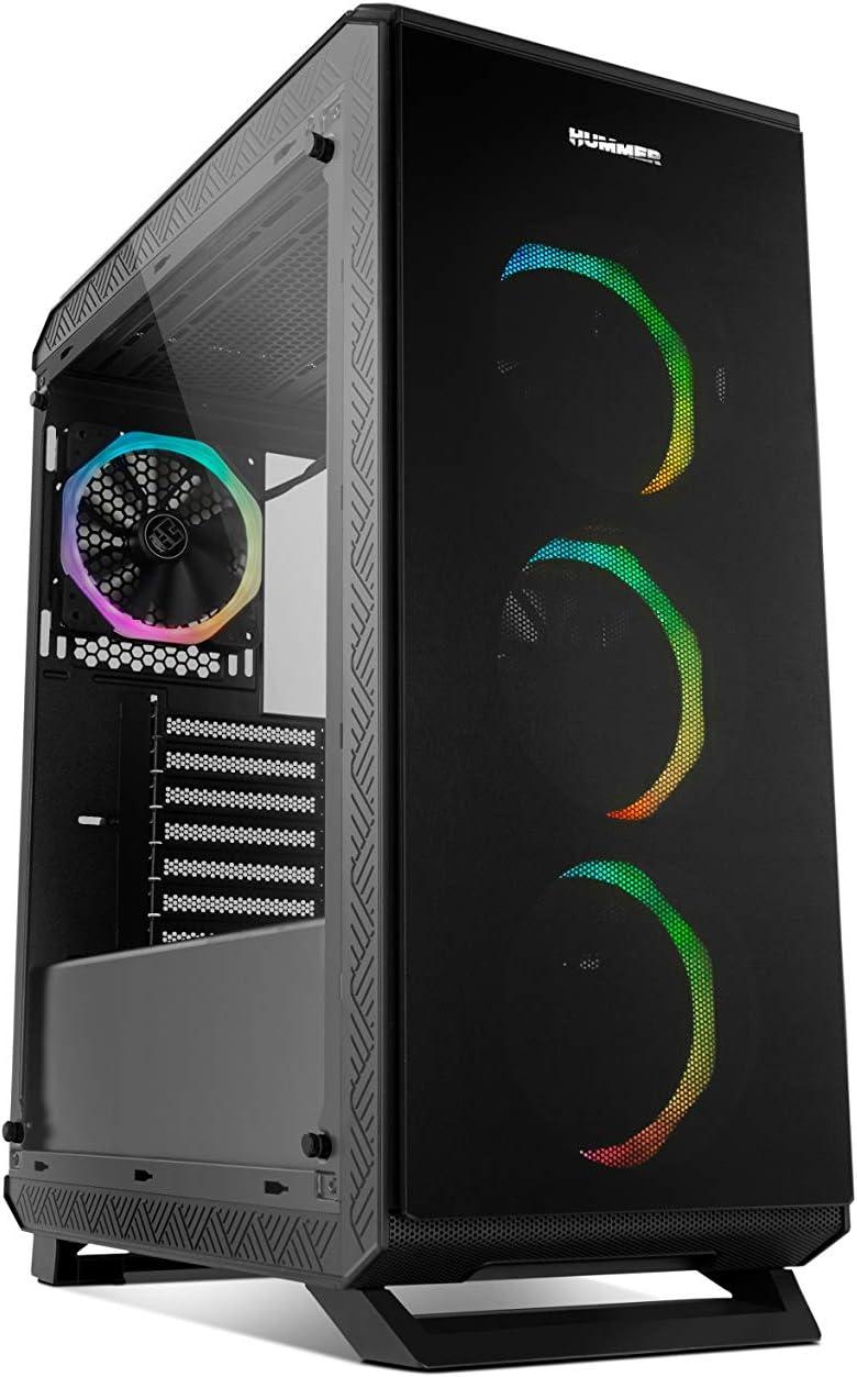 Nox Hummer TGF - NXHUMMERTGF - Caja PC, RGB, Color Negro
