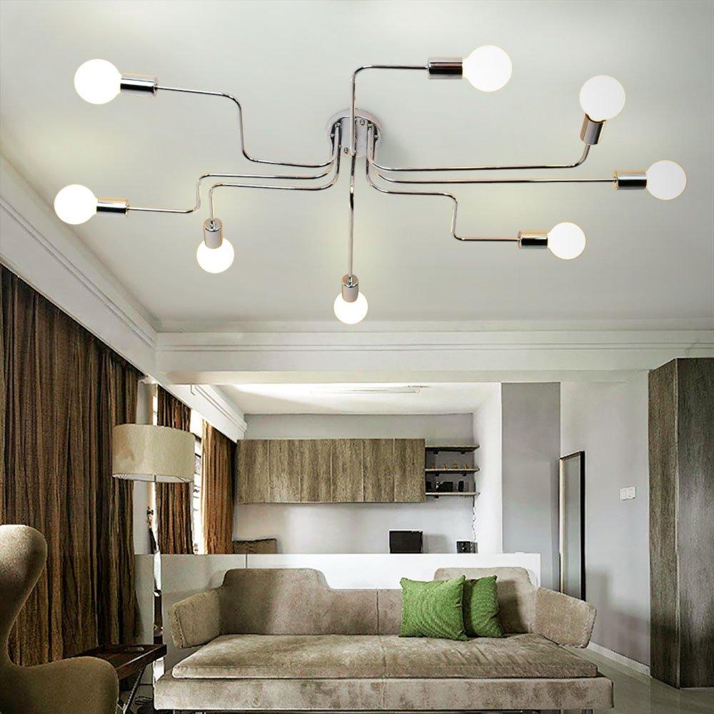Details About Lingkai Industrial Ceiling Light Metal Art Dining Room Flush Mount