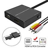 HDMI to AV Adapter, HDMI to RCA Converter Compatible Fire Stick, Roku, Support 1080p, PAL/NTSC, Power Your TV Stick Directly from HDMI to AV Converter USB Port. (Color: HDMI to AV Converter with USB)