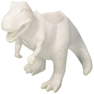 Gift Republic GR450111 T-Rex Dinosaur Planter, White: Garden & Outdoor