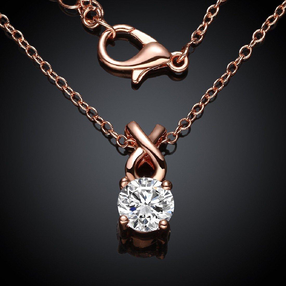 Colgante JoyliveCY para mujer con elegante cristal de imitación y cadena larga